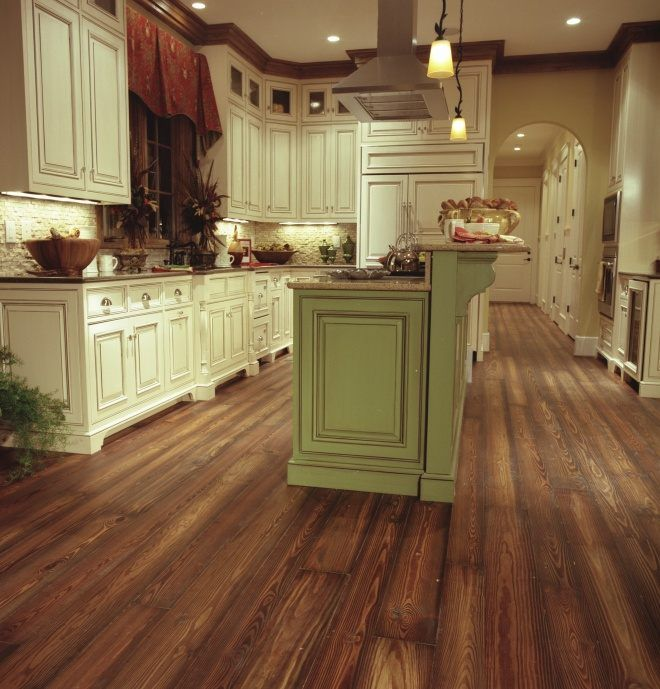 Heart Pine RECLAIMED Wide Plank Flooring