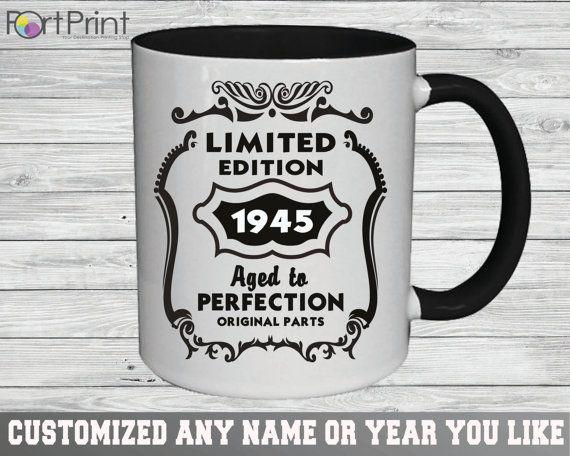 70th Birthday 70 Birthday gift 70 th birthday mug by PortPrint1
