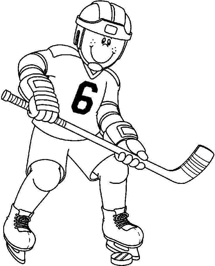Картинки о хоккее для детей раскрашивать