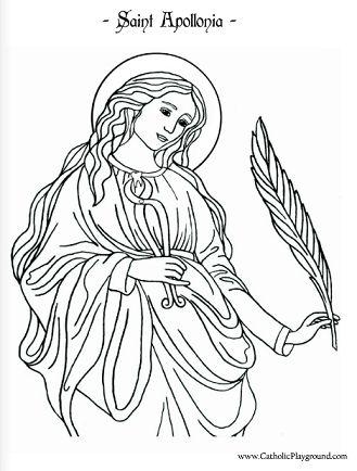 patron saint coloring pages - photo#8