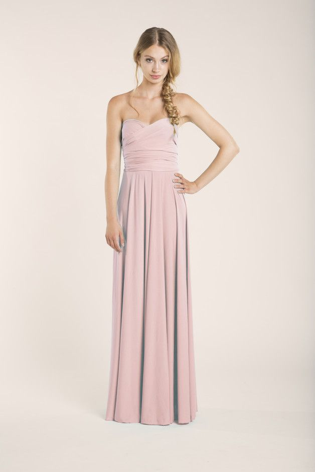 Langes Sommerkleid für Brautjungfern/ long dress for bridesmaids made by Mimetik_Bcn vie DaWanda.com