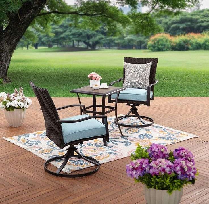 Better Homes and Gardens 3 Piece Outdoor Wicker Bistro Set