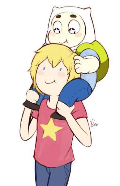 aww Steven Universe/Adventure Time <<< It's kind of funny how there around the Sam age.