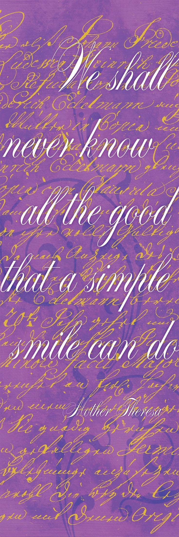 Sorbet Scripts - Simple Smile by Studio Voltaire. Canvas Wall Art by InGallery.com