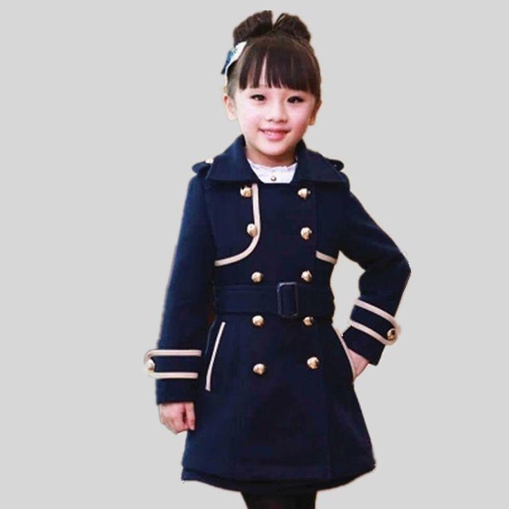 2015 детская шерстяной одежды пальто зимняя сгущает шерсть верхняя одежда куртки для девочек детская одежда пальто для девочки парка купить на AliExpress