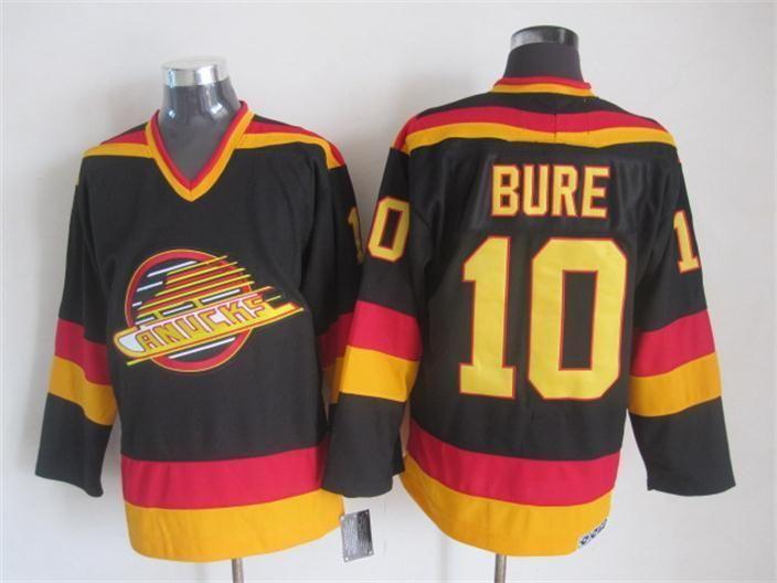 NHL jerseys Vancouver Canucks 10# Bure Black