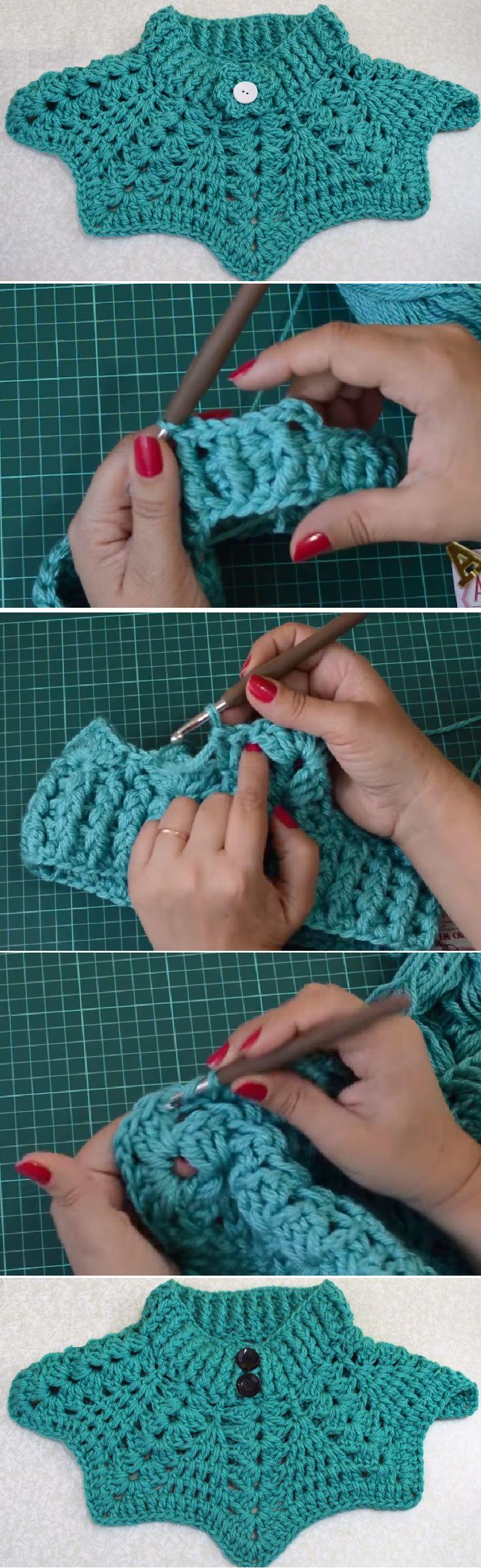 Crochet Maxi Collar/Poncho Tutorial