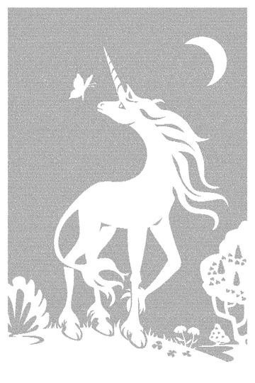 The Last Unicorn Litograph (the entire book on a poster) | this takes me back to my childhood...