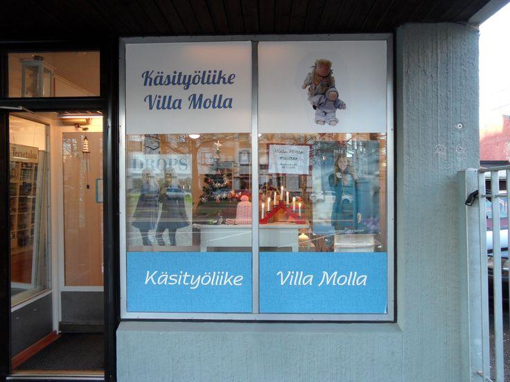 Käsityöliike Villa Molla toimii nettikauppana www.villamolla.fi