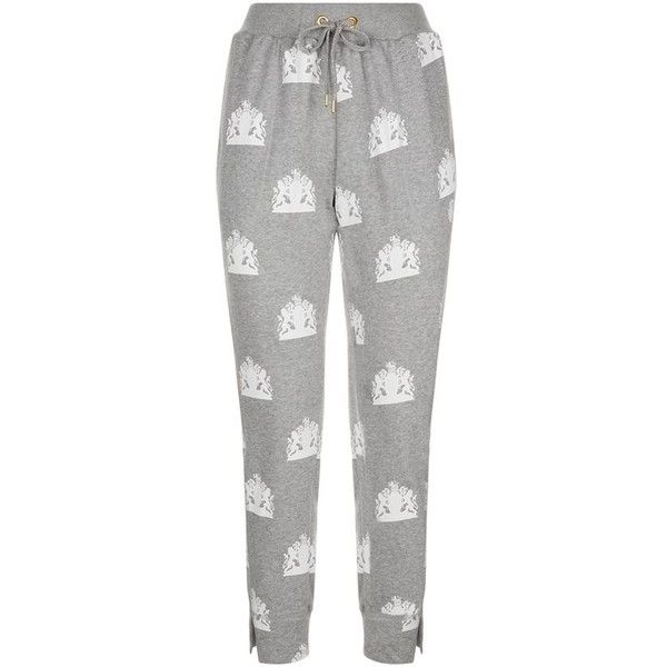 Adidas By Stella McCartney Team GB Crest Sweatpants (235 RON) ❤ liked on Polyvore featuring activewear, activewear pants, adidas sportswear, adidas activewear, adidas, sweat pants and cotton jersey