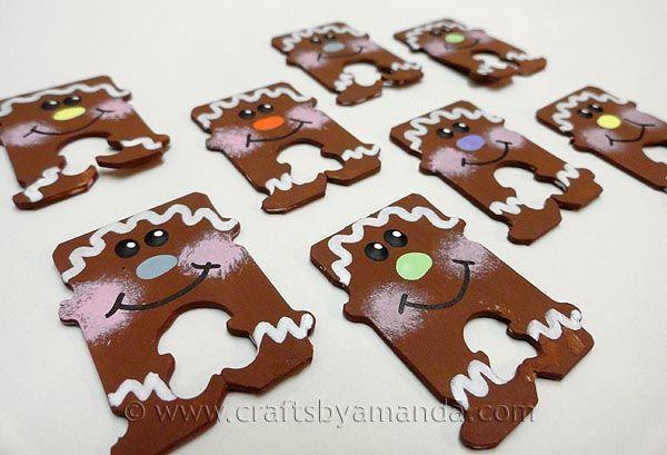 Bread Tag Gingerbread Men - Crafts by Amanda