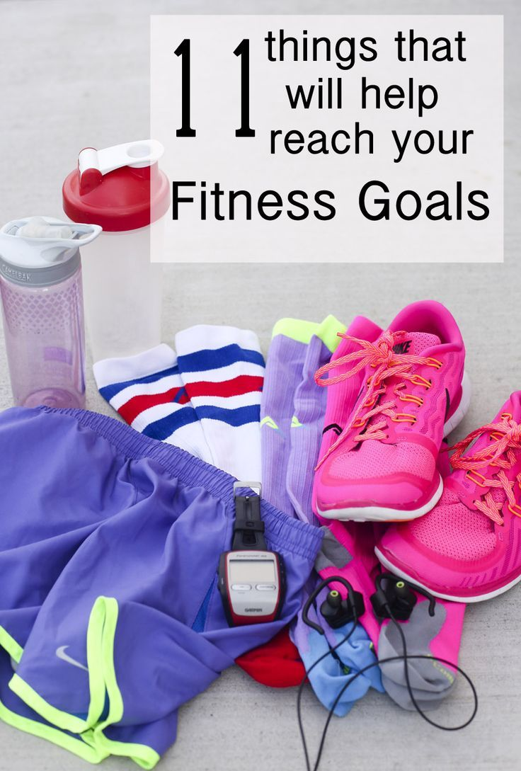 Great ideas for things to help with fitness goals.
