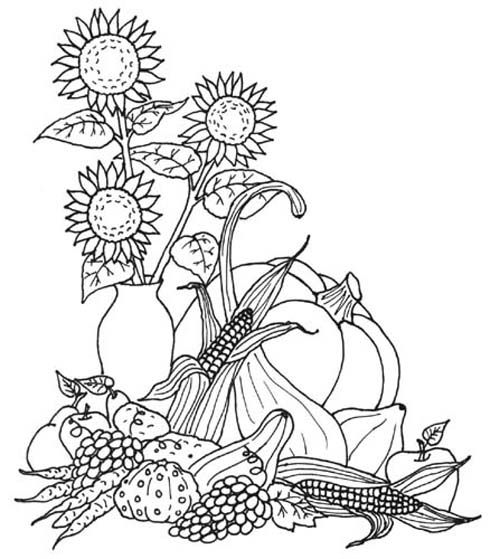 Fall fruit coloring pages ~ 221 best Fruit & vegetables embroidery patterns images on ...