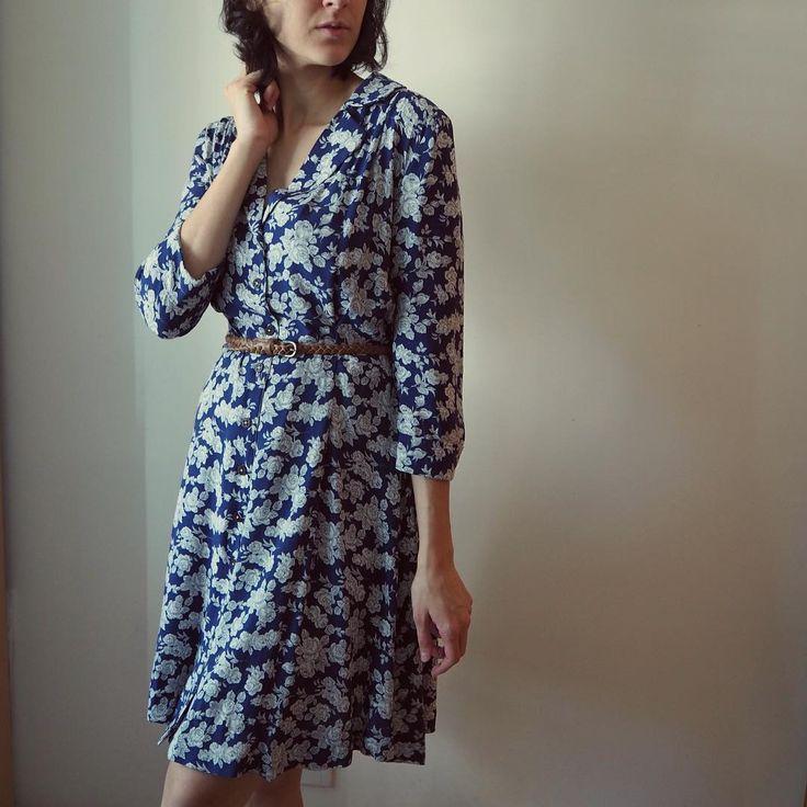SOIshowoff: blue floral Sew Over It Vintage Shirt Dress