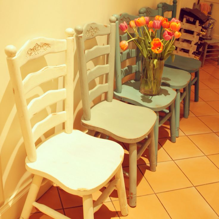Chairs with a make over. Change the look of your dining room.