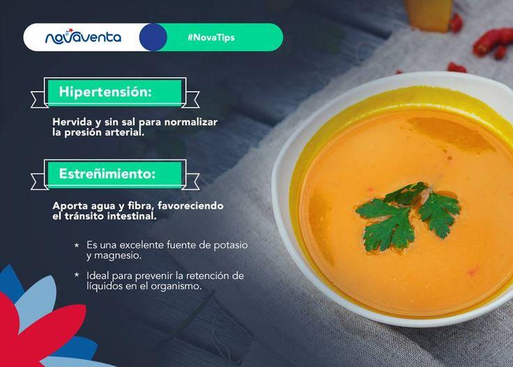 ¿Sabías que la ahuyama trae múltiples propiedades curativas para el organismo?  ¡Consúmela en sopas o en puré!