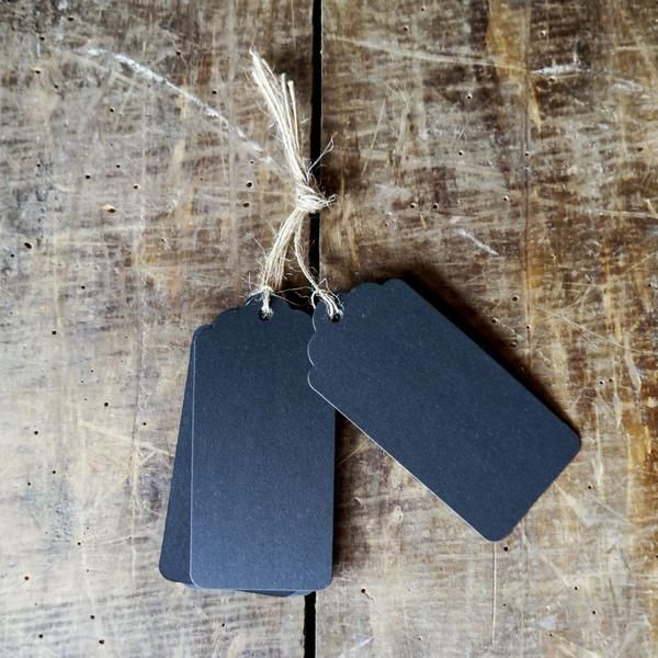 Gift Tags - Black Large - StickyBird