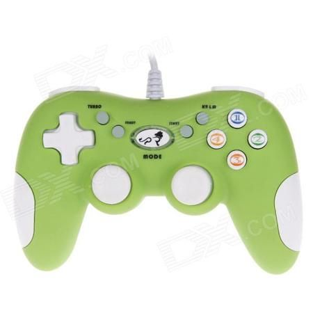 LION KING LK- 811S Professional Online Gamepad Dual Shock USB Joystick for PC - Green + White  — 1122.55 руб. —  Dual-shock joystick; Compatible with Win9X / 2000 / XP / VISTA / Win 7 system; USB interface plug and play; Full compatible with USB 1.0 / 2.0 version; Support direct_x demand; Ergonomic shaped for comfort and control airing; Support: Keyboard mouse / programming / network game.