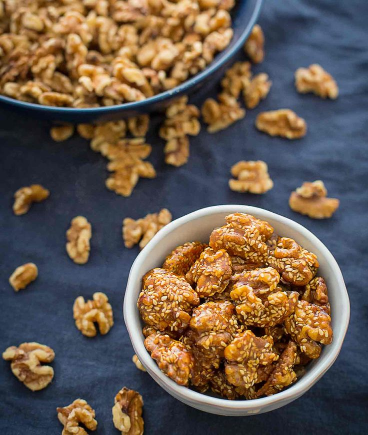 sesame sugar glazed walnuts