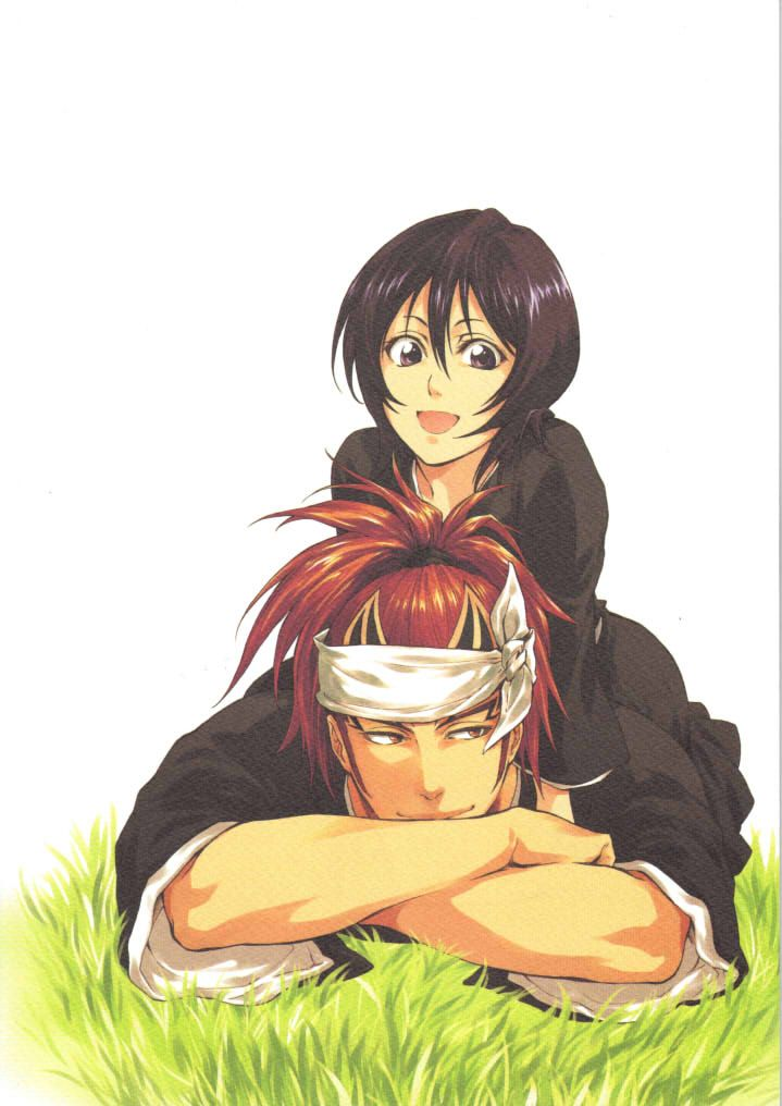"Renji and Rukia of ""Bleach"""