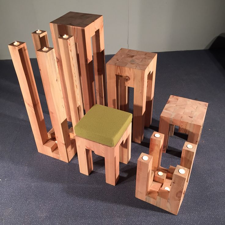 Blocco collection, recycling wood in new view. Special product to AMBIENTE 2015 show.
