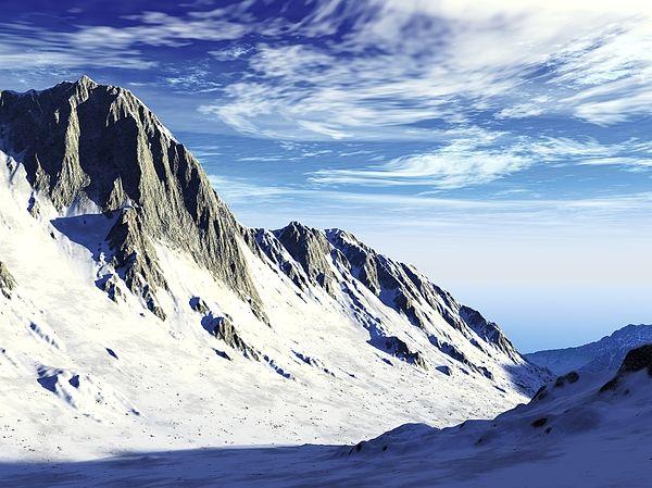 "Bildwerk ""Snow Mountain"""
