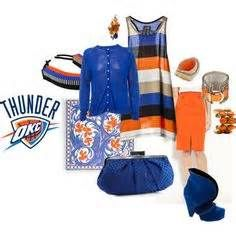 Your all set for the OKC Thunder game how cute love that striped Tank!