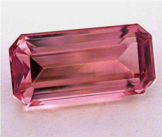 Vintage PINK TOURMALINE Faceted Loose Gemstone 698 by EurekaEureka, $1395.00