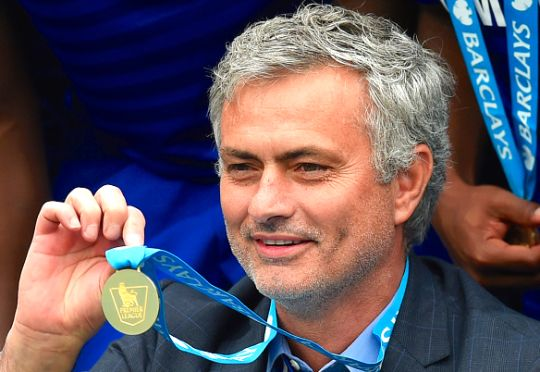 Jose Mourinho with his 4th Premier League winners medal!