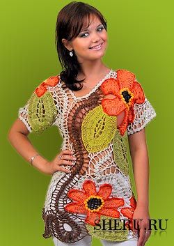 Decorative drapery clothes fabric  Crocheted and Knitted Fashion  [in Russian, great ideas]