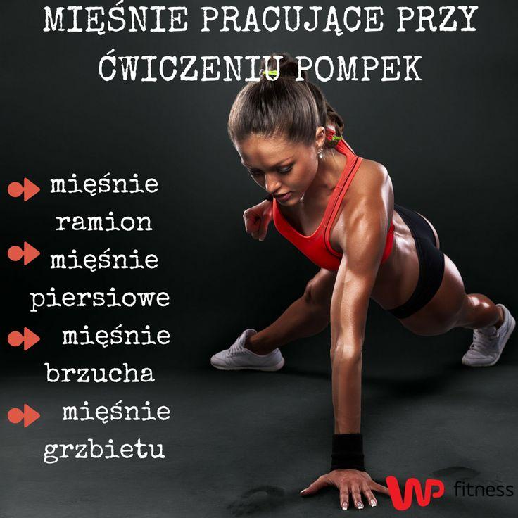 Jedno z najbardziej popularnych ćwiczeń - pompki.  #exercises #training #workout #muscle #ćwiczenia #trening #pomki #mięśnie
