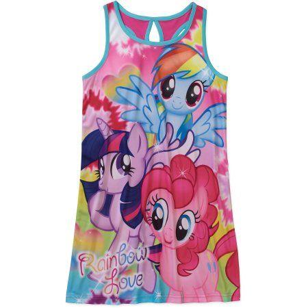 My Little Pony Girls' Pajama Nightgown, Pink
