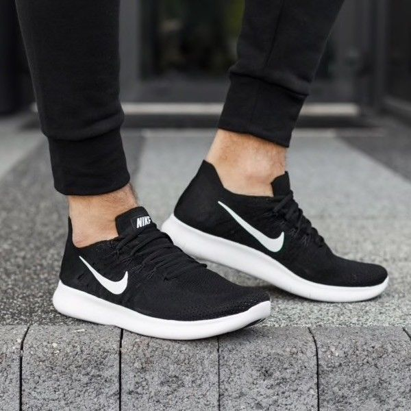 sports shoes 2b805 413d5 Nike Free RN Flyknit 2017 Running Shoes Black White 880843-001 Men s Size 8   fashion  clothing  shoes  accessories  mensshoes  athleticshoes (ebay link)