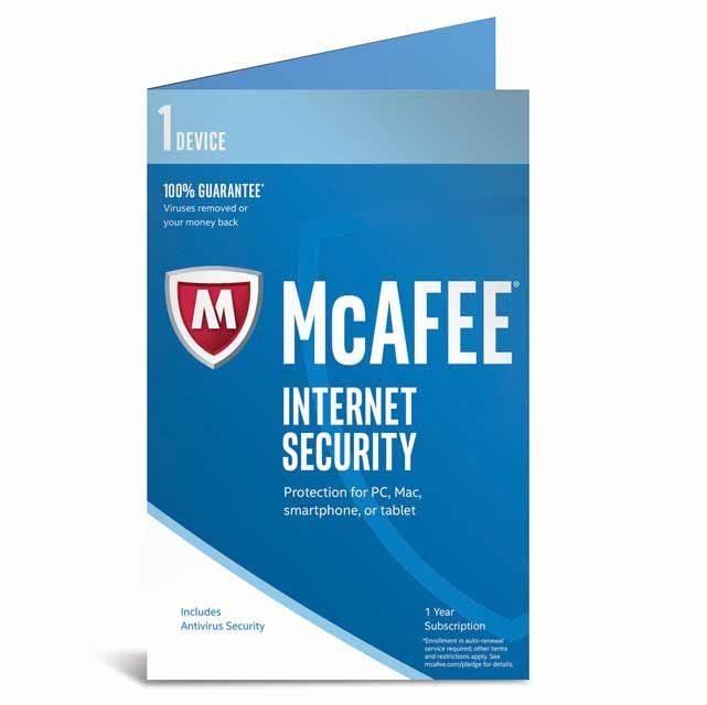 Buy a McAfee Internet Security 2017 MIS17U001RKA Software