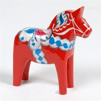 It doesn't get much more Swedish than with the Dala horse.
