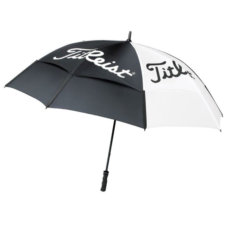 Titleist Double Canopy Golf Umbrella - Conquer the elements today with Titleist Golf - https://www.foremostgolf.com/titleist-double-canopy-golf-umbrella-black-white