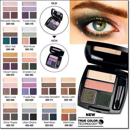 New Avon Makeup Collection Eyeshadow Quad Colors!!! Great color! Very pigmented!! Get them at youravon.com/aintartaglia
