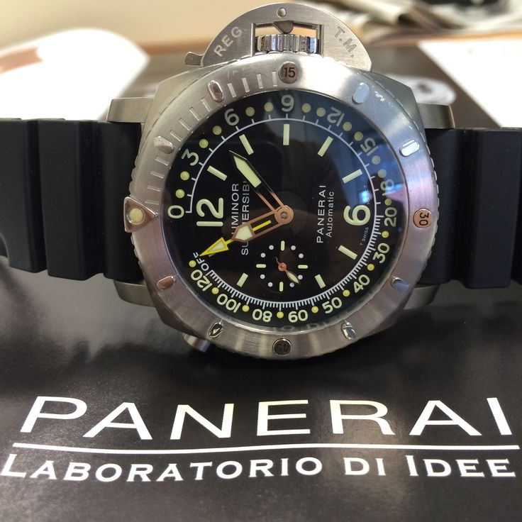 A working divers tool, the Panerai Submersible with Depth Gauge http://www.globalwatchshop.co.uk/panerai-luminor-submersible-depth-gauge-pam193.html?utm_content=buffer6e7b2&utm_medium=social&utm_source=pinterest.com&utm_campaign=buffer Available now