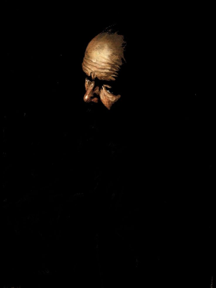 Just stunning - Caravaggio. Detail from 'The Denial of St. Peter'. A master of Chiaroscuro.