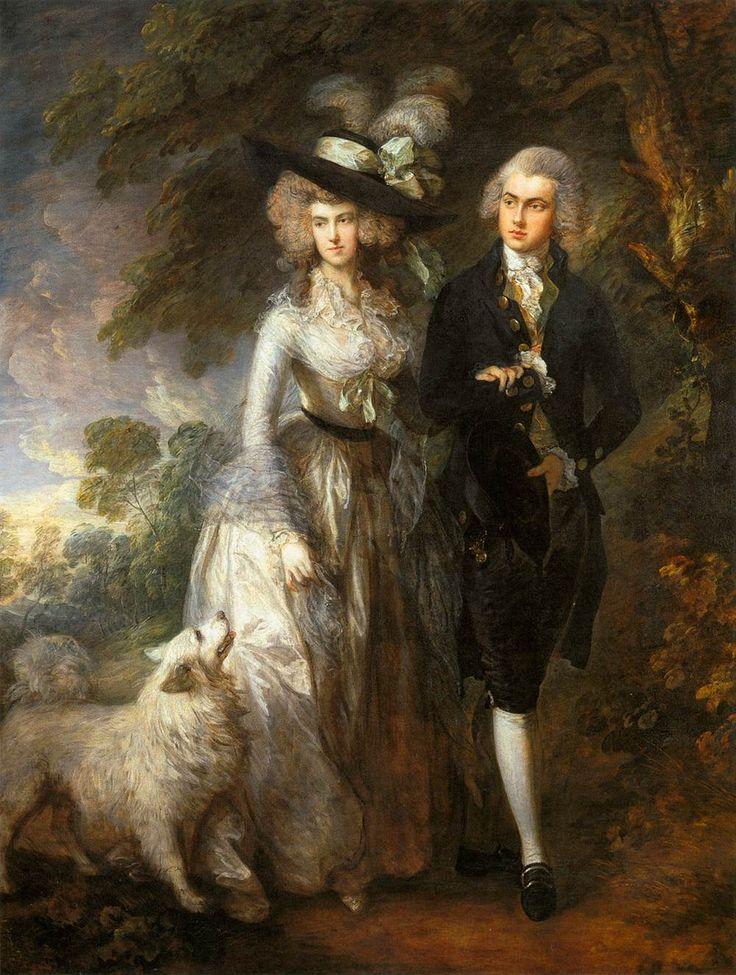 Mr and Mrs William Hallett ('The Morning Walk'); Thomas Gainsborough; olio su tela; 1785; National Gallery, Londra, Regno Unito.