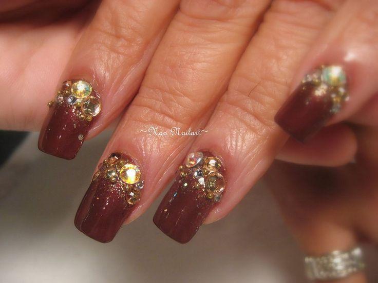 31 best images about brown nails u as marrones on pinterest. Black Bedroom Furniture Sets. Home Design Ideas