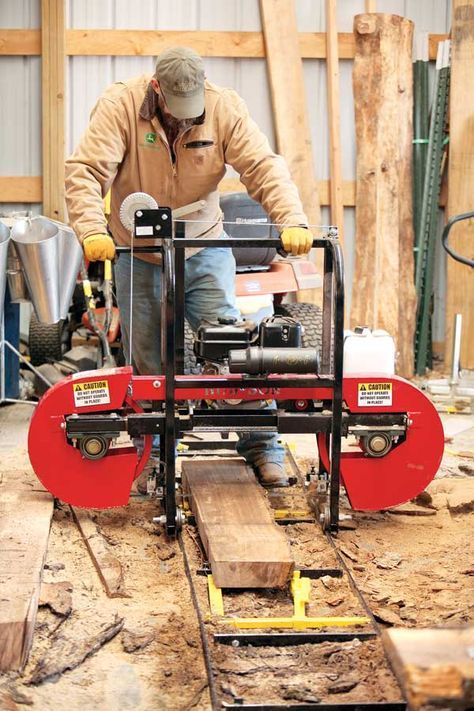 Use a Portable Sawmill to Make Your Own Lumber | backyard sawmill
