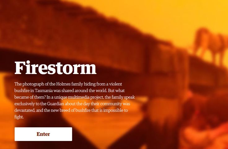 Firestorm: The story of the bushfire at Dunalley - AMAZING interactive multimedia story: video/interviews/sound