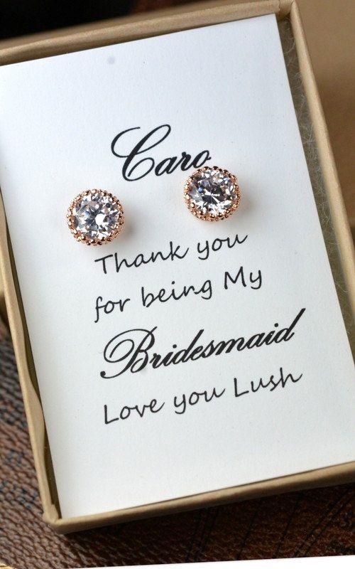 Rose Gold Bridal Set, Brautjungfern Schmuck-Set, Crystal Anhänger und Ohrringe, Hochzeit Schmuck, Rose Gold Bridal Schmuck-SET, Silber set