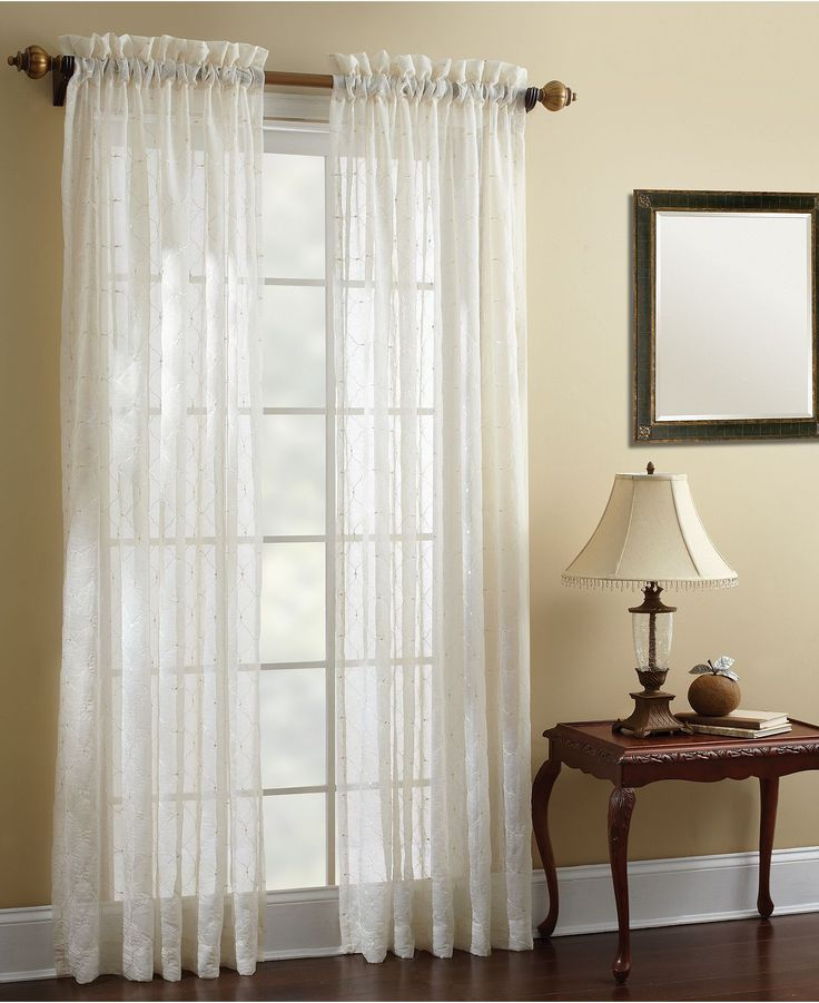 "Croscill Window Treatments, Hammond Sheer 50"" x 84"" Panel - Sheer Curtains - for the home - Macy's"