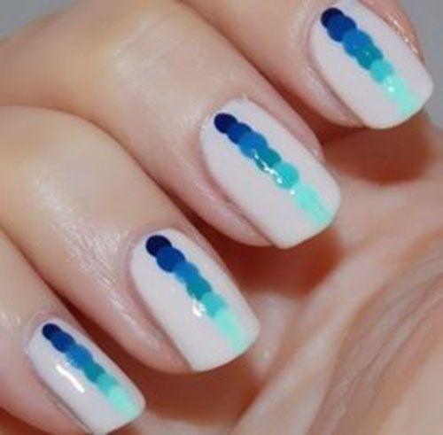 Simple White Nail Design Idea. #nail #nails 20 Easy Nail