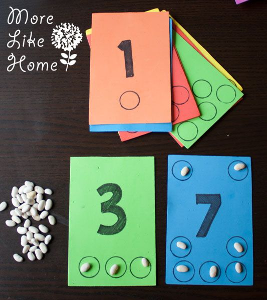 More Like Home: Bean Counting Busy Bag