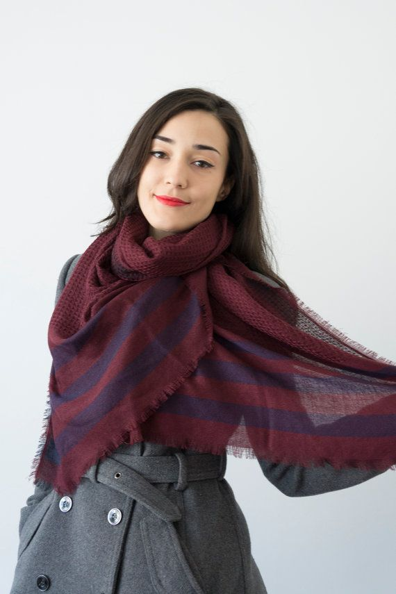 Maroon Scarf unisex Scarf  Women Scarf Winter Scarf Men by Urbe