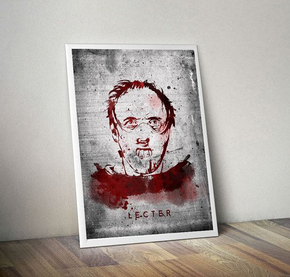 Hannibal Lecter - illustration from Silence of the lambs , horror, slasher, halloween, movie, poster, retro, nightmare, horror gift, clown