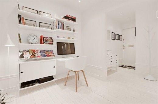 Man, that apartment is really white! #apartment #white #wood